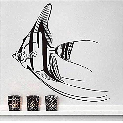 Peces nómadas pegatinas de pared sala de estar cocina impermeable decoración de la pared papel tapiz pegatinas de arte accesorios de decoración del hogar 59x59 cm