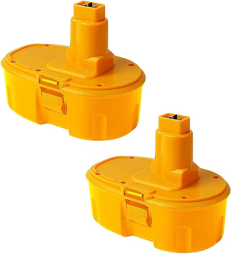 2Pack 4600mAh DC9096 18V 2021 spring and summer new Replacement Many popular brands 18-Volt Battery Dewalt for