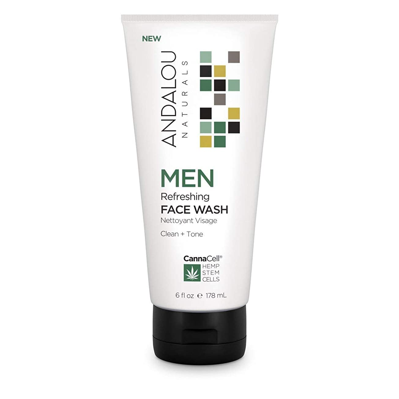 性的底計器オーガニック ボタニカル 洗顔料 洗顔フォーム ナチュラル フルーツ幹細胞 ヘンプ幹細胞 「 MEN リフレッシングフェイスウォッシュ 」 ANDALOU naturals アンダルー ナチュラルズ
