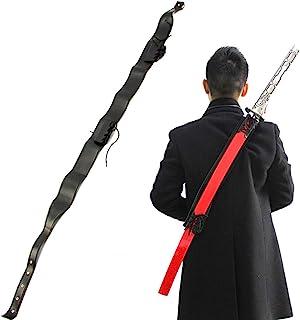 Wraith of East Katana Sword Carry Case DIY Ninja Samurai Weapon Bag Faux Leather Shoulder Harness Sheath Medieval Knights ...