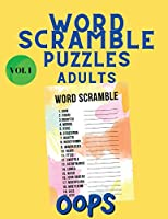 Word Scramble Puzzles Adults: Word Search Book - Scrabble - Word Scramble Book - Word Game Book for Adults - Large Print Word Search Books