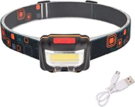 junfeng LED Hoofd Zaklamp Mini IR Sensor Koplamp Inductie USB Oplaadbare Lantaarn Koplamp 2 Schakelaars Modi LED Hoofd Zak...