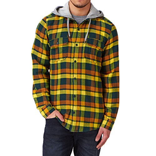 DC Shoes Aberdeen Ls M Chemise Casual Homme, Bleu (Atlantic Deep Aber), Small (Taille Fabricant: S)