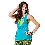 Zumba Dance Atlético Estampado Fitness Camiseta Mujer Sueltas de Entrenamiento Top Deportivo, No Big Teal 1, XX-Large
