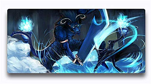Mouse Pads Anime Sword Art Online Computer Gaming Mouse Pad 300X700X3Mm Extended Laptop Keyboard Mouse Pads with Natural Rubber Non Slip Base Blue
