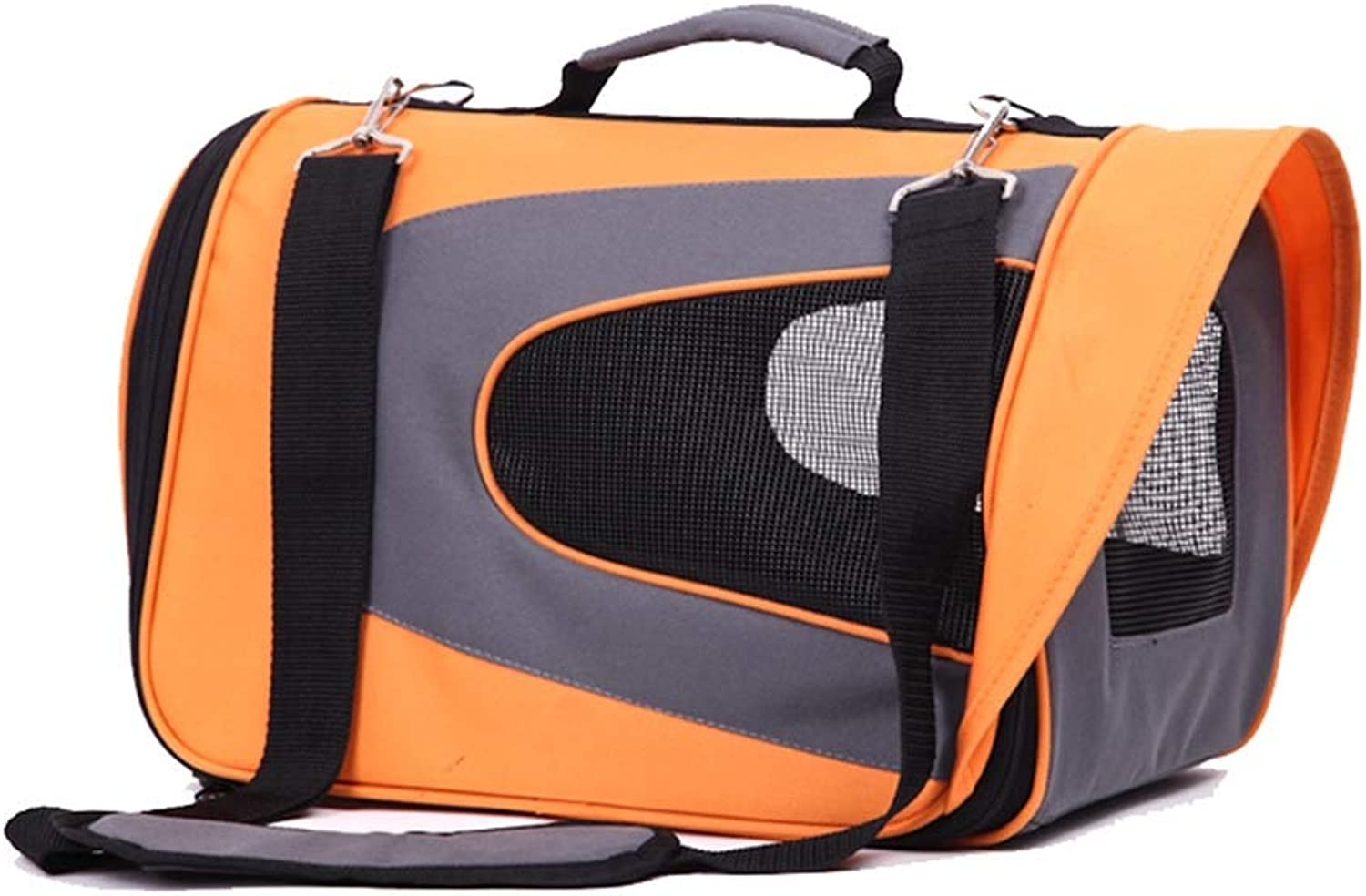 QIQI Portable Pet Carrier Dog Backpack For Cat And Small Dog Outdoor Travel (color   orange)
