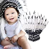 Difcuy Children Party American Native Indian Feather Headdress Hat Photography Prop for Halloween Party Photography