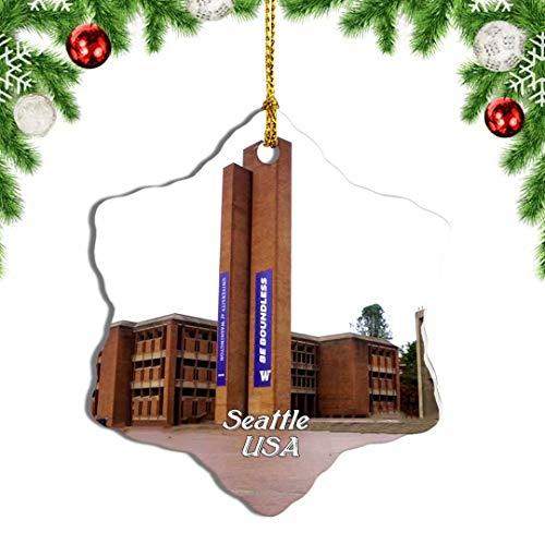Weekino USA America University of Washington Seattle Christmas Ornament Travel Souvenir Tree Hanging Pendant