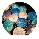 Coton boule lanterne LED lanterne festival salle décoration lumière décoration...