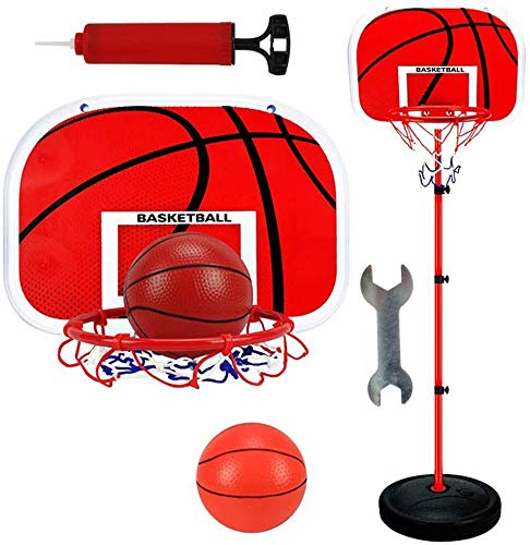 AMhuui Basketball Backboard, Backboard & Rim Combo Basketballkorb Kinder Basketball-System Tragbares Outdoor Sports Ball Spielzeug 150cm