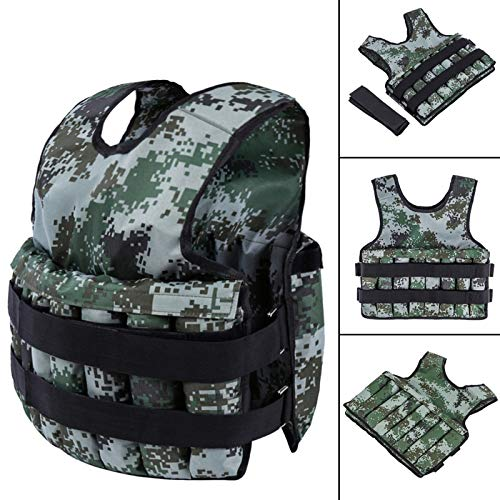 Wotryit Adjustable Camouflage Weighted Vest 44LB Exercise Training Fitness - Premium Quality -fit Training - Running - Jogging - Fully Adjustable
