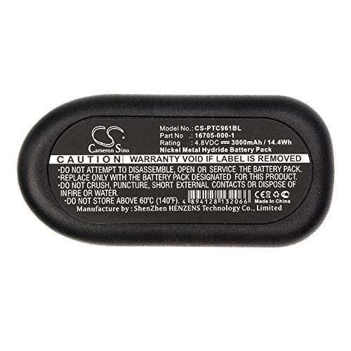 Batterie de scanner de code à barres Batterie de scanner de codes à barres Ni-MH 4,8V 3000mAh / 14.40Wh compatible pour Telxon compatible avec les modèles PTC960XDS, PTC-960XDS Batterie de rechange