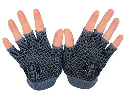 Mato & Hash Yoga Pilates Fingerless Exercise Grip Gloves