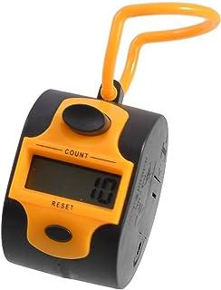TOOGOO(R)Naranja Negro Plastico Contador de cuenta de mano digital de golf de 5 numeros