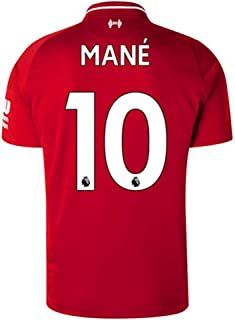 Liverpool Home Mens 10 Mane Socce Jersey 2018-2019