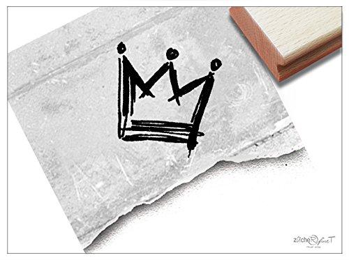 Stempel - Kinderstempel Krone (groß) - Motivstempel Bildstempel - Schule Kita Basteln Einschulung Geschenk für Kinder von zAcheR-fineT