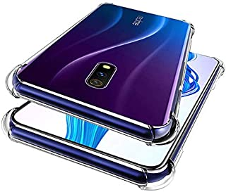 Tarkan Shock Proof Protective Soft Back Case Cover for Realme X (Transparent) [Bumper Corners with Air Cushion Technology]