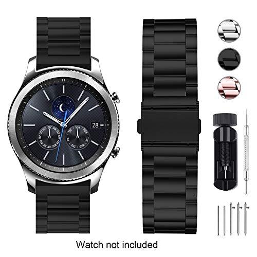 Fullmosa Edelstahl Uhrenarmband 22mm für Samsung Gear S3 Classic/Frontier/Galaxy 46mm, Asus Zenwatch 2 1.63