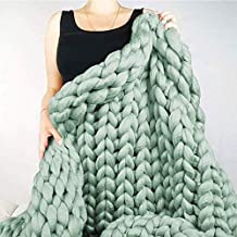 Chunky Knitted Blanket Knitted Throw Blanket Fashion Sofa Blanket Yoga Mat Rug Home Decor Gift (Color : 5, Size : 150 * 20...