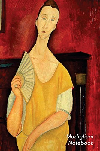 Modigliani Notebook: Portrait of Lunia Czechowska with a Fan Journal | 100-Page Beautiful Lined Art Notebook | 6 X 9 Artsy Journal Notebook (Art Masterpieces) [Idioma Inglés]