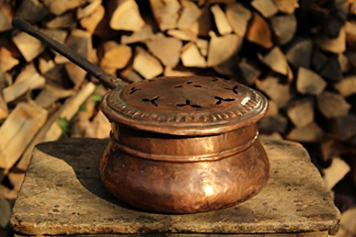 BettwÄrmer, Alte Kupfer Pfanne, Bett Pfanne, handgemacht