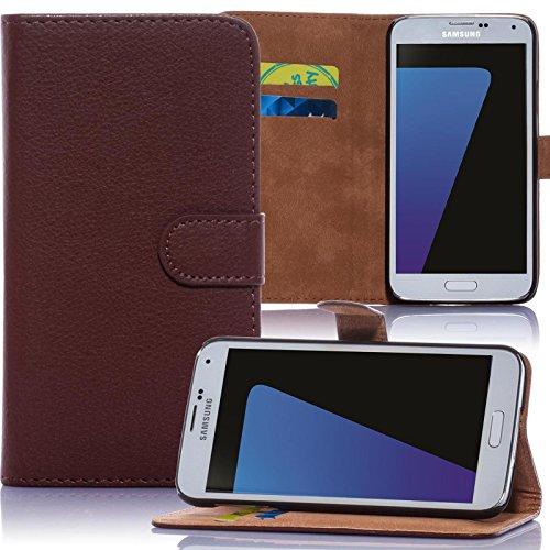 Sony Xperia E3 Hülle, Schutzhülle [Bookstyle Handytasche Standfunktion, Kartenfach] PU Leder Tasche für Sony Xperia E3 Wallet Hülle [Braun]
