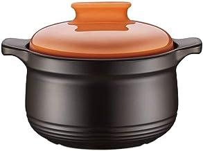 WZWHJ Ceramic Crock Pot solid Soup Pot hot Stew Pot Casserole Cooking Pot Cookware Ceramic Soup Pot Kitchen Cooking cerami...