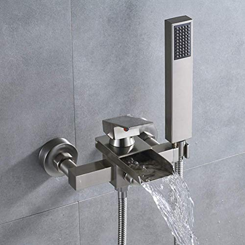 MFWallMirror douchekop douchesysteem badkuip waterkraan eenhands waterval uit de kraan met handdouche aan de muur gemonteerd badkamer kraan