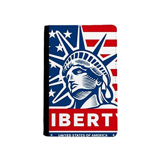 beatChong Amerika-Flagge mit Freiheitsstatue Muster-Pass-Halter-Reise-Brieftasche Abdeckungs-Fall Karten-Geldbeutel