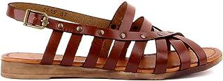 Sail Lakers - Kahverengi Deri Tokalı Kadın Sandalet