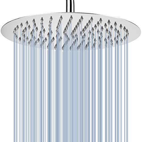 Rainfall Shower Head - Voolan 12 Inch High Flow Showerhead...