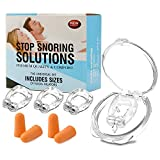 Anti Snoring Devices, Glynee 4PCS Silicone Magnetic Anti Snore Clip with 2 Earplug, Mini Silicone Magnetic Anti Snoring Devices Solution Comfortable Sleeping Aid for Men and Women
