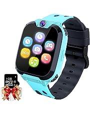 Kids Game Smartwatch MP3-speler Muziek Horloge - [1GB Micro SD inbegrepen] Touchscreen 2 Way Call SOS Wekker Camera Polshorloge voor Jongens Meisjes Vakantie Verjaardag Speelgoed Geschenken