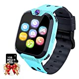 Kids Game Smartwatch MP3 Player Music Watch - [1GB Micro SD Included] Touch Screen 2 Way Call SOS Alarm Clock Games Camera Wrist Watch for Boys Girls Holiday Birthday Toys Gifts (Blue)