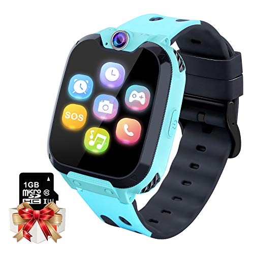 Smartwatch per Bambini Orologio da Gioco - Game Music Smart Watch (Include 1GB Micro SD Card) con Lettore Musicale MP3 Call Games Camera Recorder Sveglia per Ragazzi Ragazze (Blu)