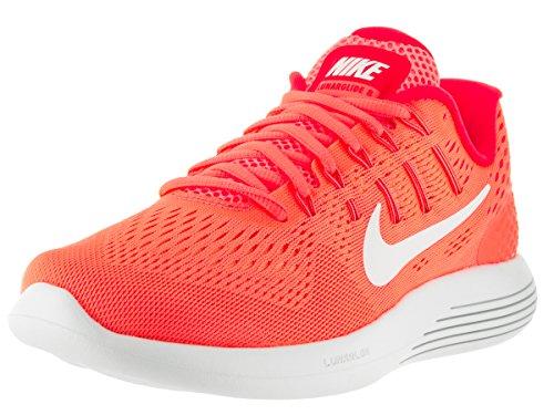 Nike, Lunarglide 8, scarpe da corsa da donna, Donna, 843726 800, Arancio/bianco, 37,5