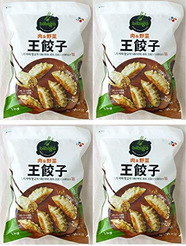 公式 #015734-4P bibigo ビビゴ 肉の野菜 冷凍 王餃 5種の野菜、春雨、豆腐入りの韓食餃子 1kg×4個 ハロウィン ギフト にも 美味しい お取り寄せ
