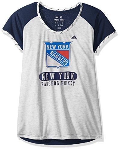 adidas Nueva York Rangers NHL para Mujer Doble Mezcla Premium T-Shirt