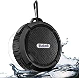 Shower Speaker, Waterproof Outdoor Bluetooth Speaker with Suction Cup, Portable Mini Wireless Speaker with Sturdy Hook, Stereo Sound and Bluetooth 5.0 for Bathroom, Pool, Beach