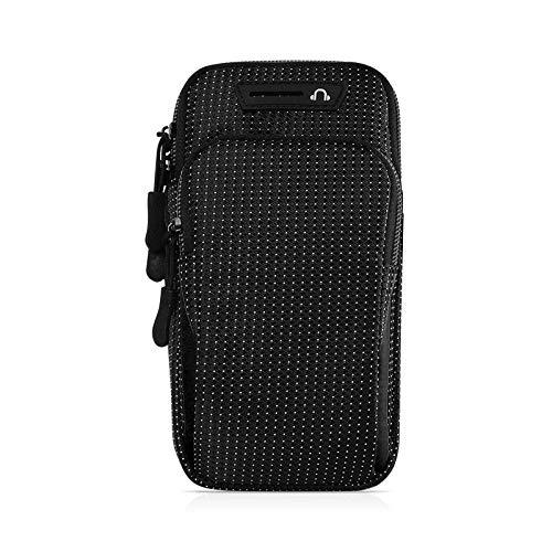 ZWH Brazal de la Caja del teléfono en la Mano Brazalete Deportivo Conveniente for el iPhone 6.5in del teléfono móvil Brazalete Deportivo Porta Cellulare Braccio Bolsa (Color : Black)