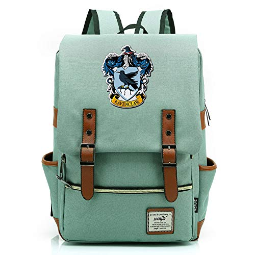 MMZ Harry Potter Backpack Ravenclaw School Bag Ladies Youth Children Travel Backpack Large Green