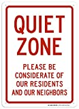 Quiet Zone Please Be Considerate Sign - 10'x14' - .040 Rust Free Aluminum - Made in USA - UV Protected and Weatherproof - A82-593AL