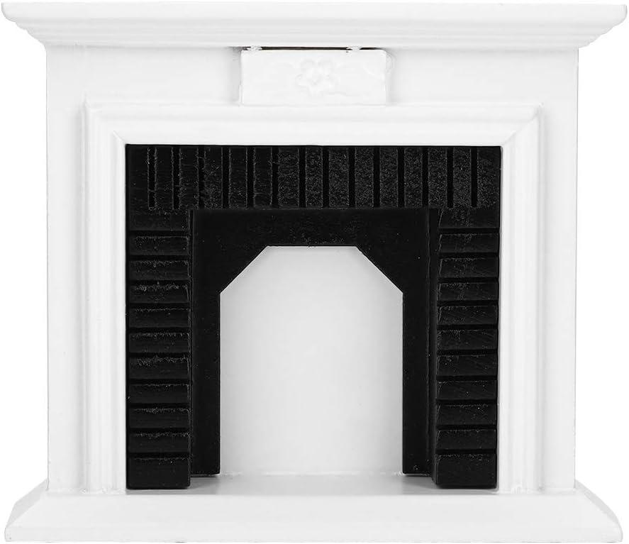 Yosoo Super sale 1:12 Dollhouse Miniature Furniture Mini Firepl Direct sale of manufacturer Room Wooden
