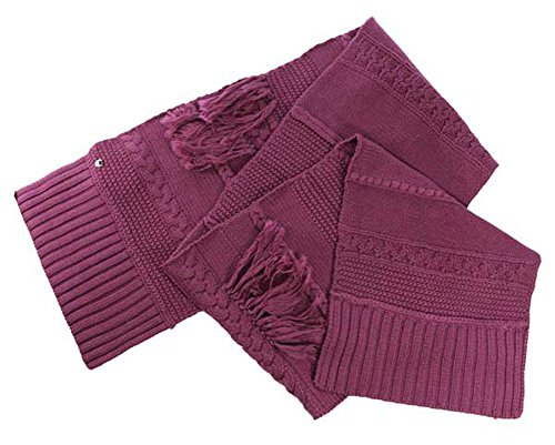 UGG Women's Cable Fringe Scarf Bougainvillea Scarf One Size