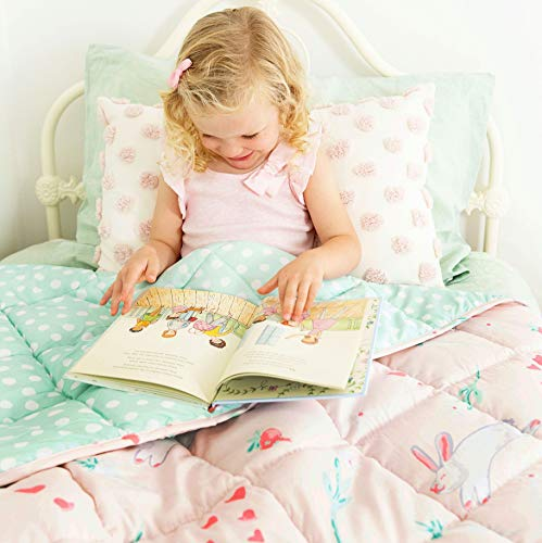 Premium Kids Weighted Blanket 5 Pounds | Pink Heavy Blanket | Washable Calming Comforter for Toddler 5lb