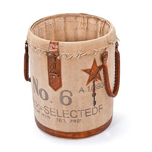 Inter Link Urban 18 Basket, Cuero, Marrón, 54 x 31 x 33 cm, 1 Unidades, Beige, 54x31x33 cm
