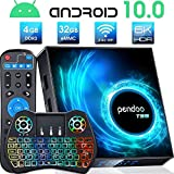pendoo T95 Android TV Box 4GB RAM 32GB ROM with Backlit Mini Wireless Keyboard with Touchpad, Dual-WiFi 2.4GHz/5GHz Bluetooth Quad Core 64 Bits