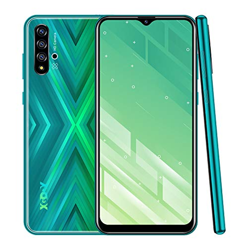 Xgody X30 Unlocked Cell Phones,Android 9.0 Mobile Phone Cheap,Dual Sim-Free Smartphone with 6.53 inch HD(20:9) Waterdrop Screen,5MP + 16GB ROM(Green X30)