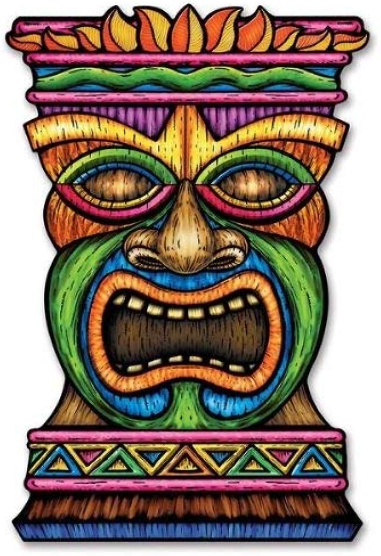 1, Multicolord) Beistle 54553 Jumbo Tiki Cutout, 3Feet 3Feet 3Feet