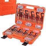HORUSDY 300Pc Thread Repair Kit, HSS Drill Helicoil Repair Kit Metric M5 M6 M8 M10 M12, SAE 1/4' 5/16' 3/8' 7/16' 1/2'